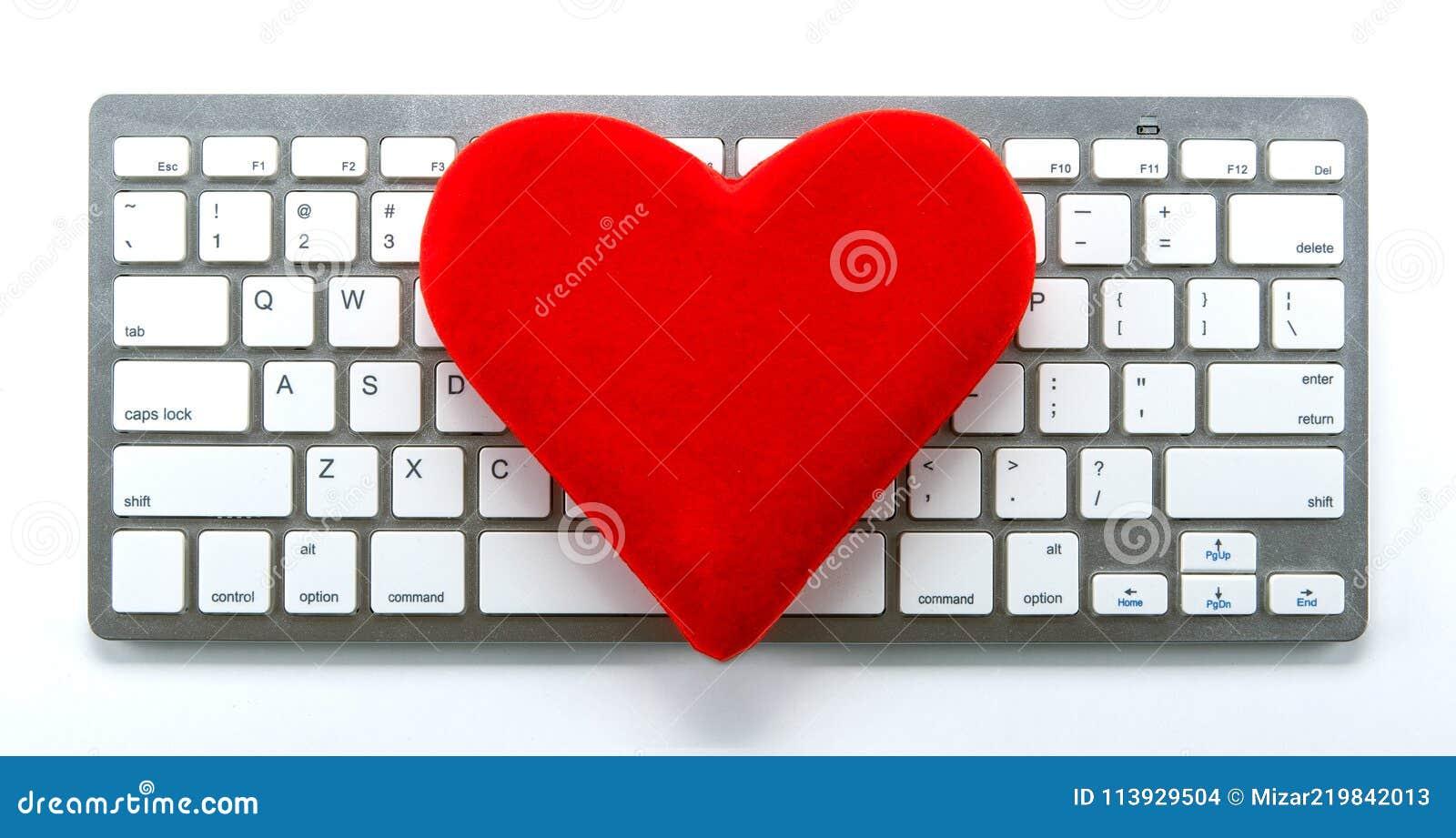 hjärta på tangentbordet