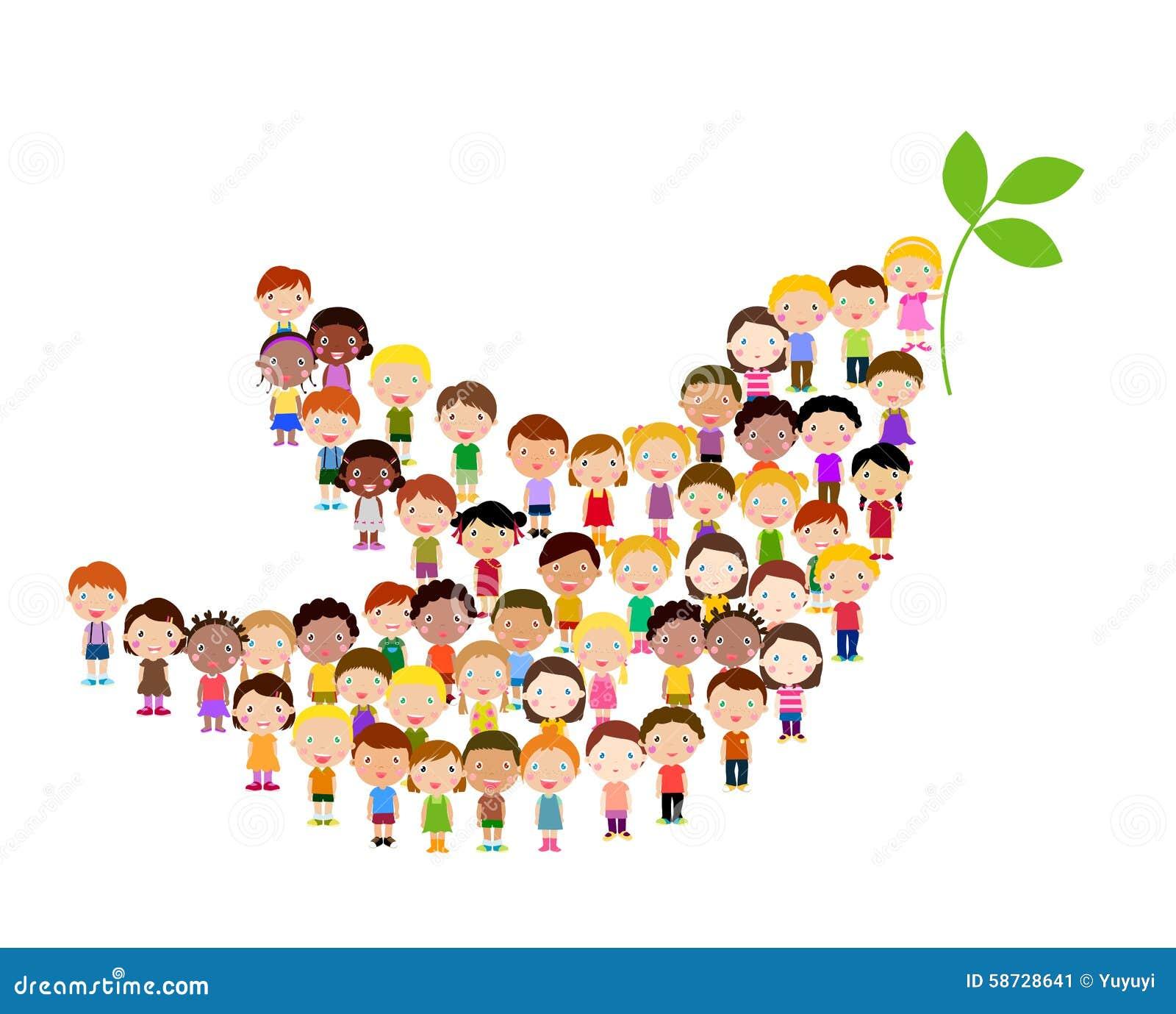 Symbol av fred - barn