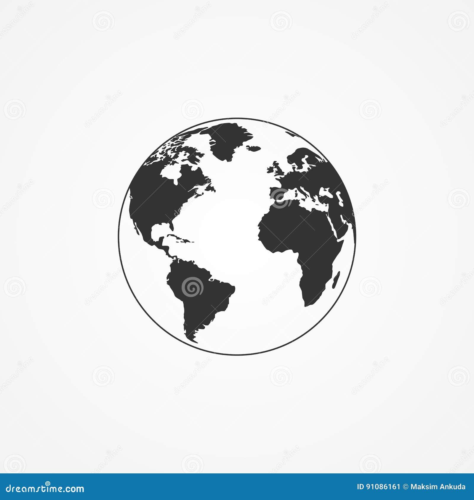 Symbol av planetjorden