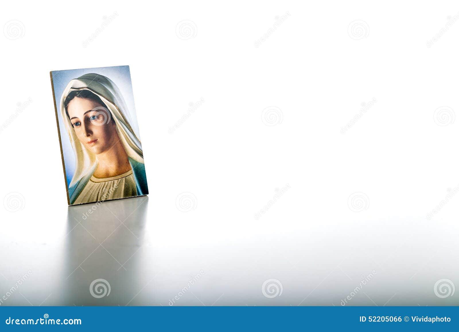 Symbol av vår dam av Medjugorje den välsignade jungfruliga Maryen