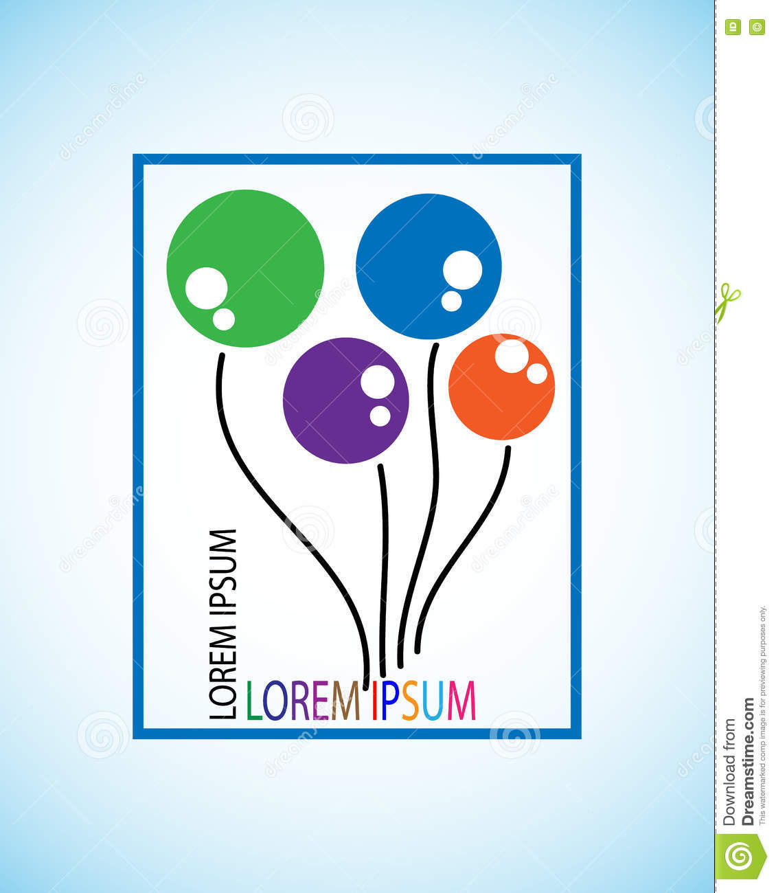 Symbol Of Balloon This Represents The Concept Of Creativity With