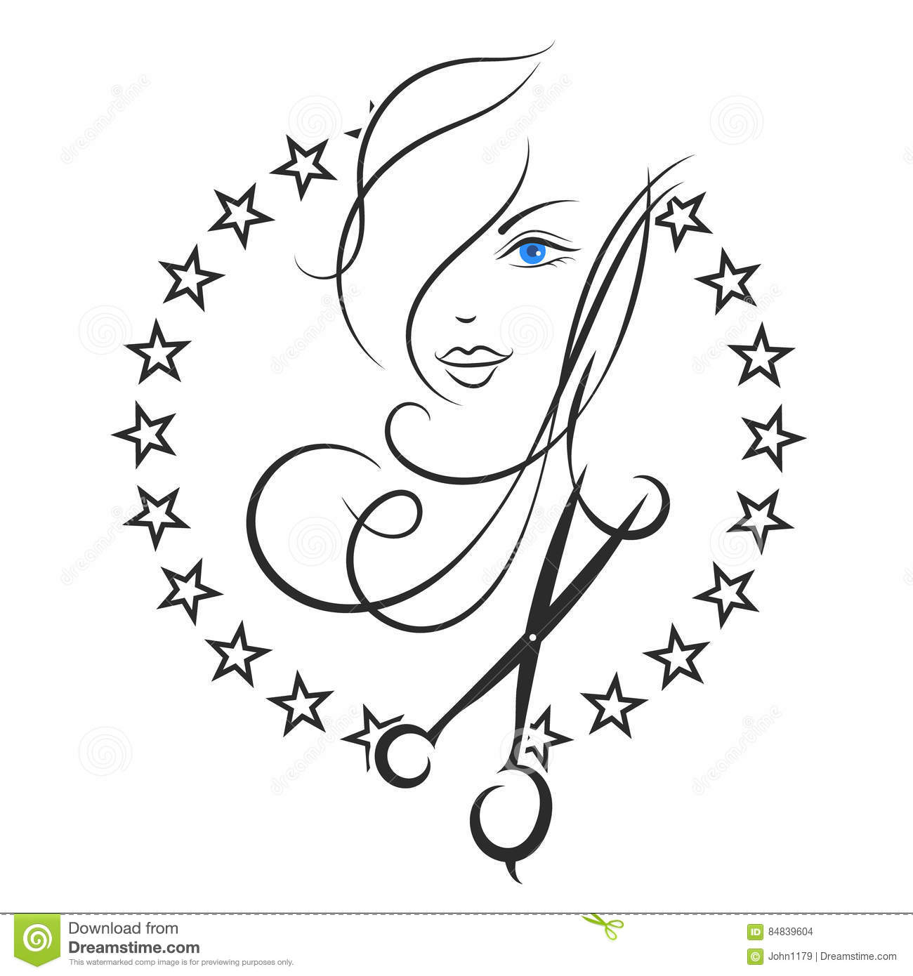 Symbol Of Beauty And Hair Salon Stock Vector Illustration Of