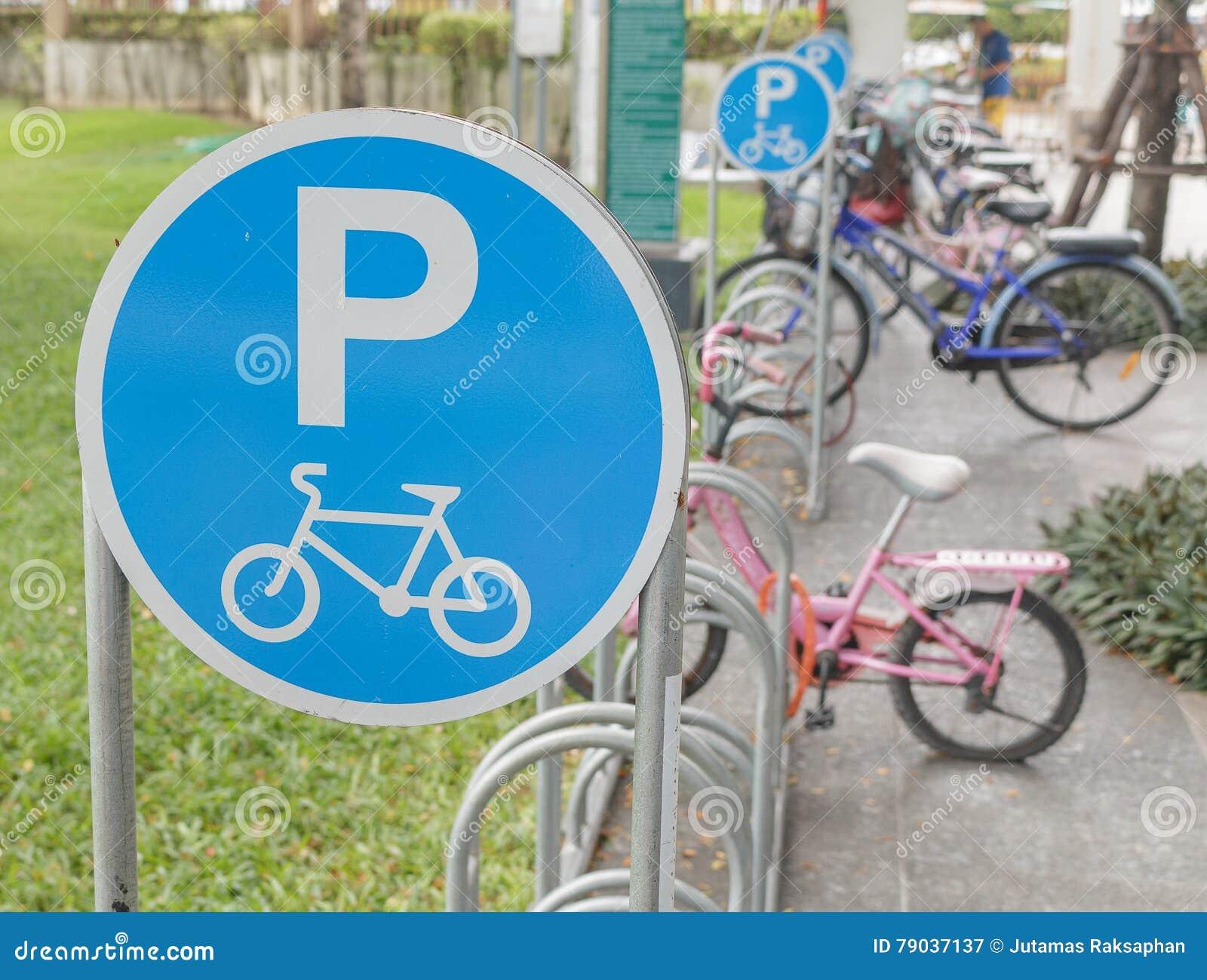 Symbol of bicycle parking stock image image of park 79037137 symbol of bicycle parking buycottarizona