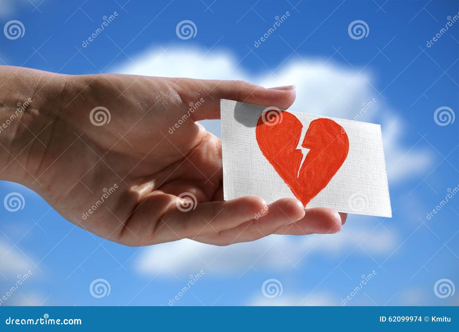 Symbol of broken heart stock photo image of divorce 62099974 symbol of broken heart buycottarizona