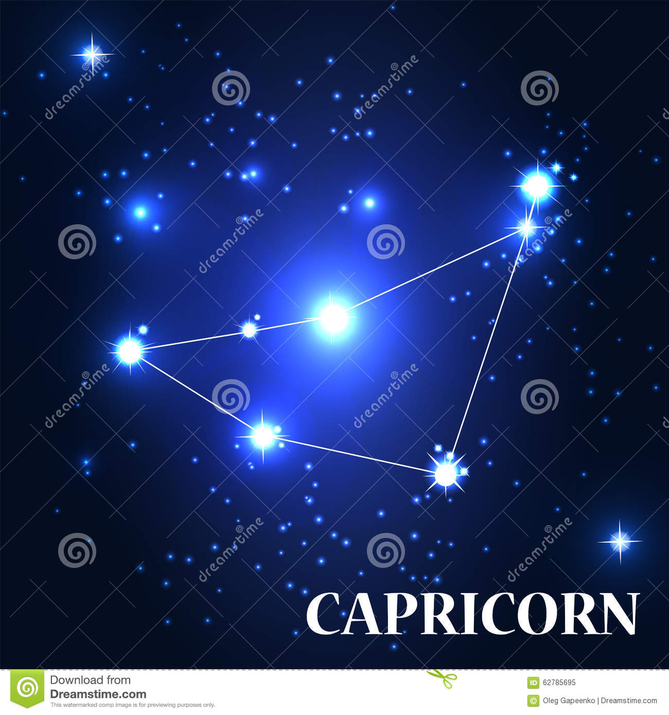 Symbol Capricorn Zodiac Sign Vector Illustration Stock Vector