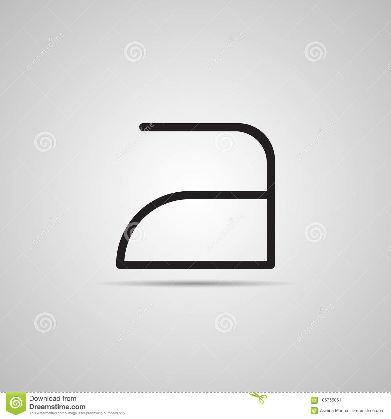 Symbol On Care Of Clothes Iron For Washing Instruction Stock Vector
