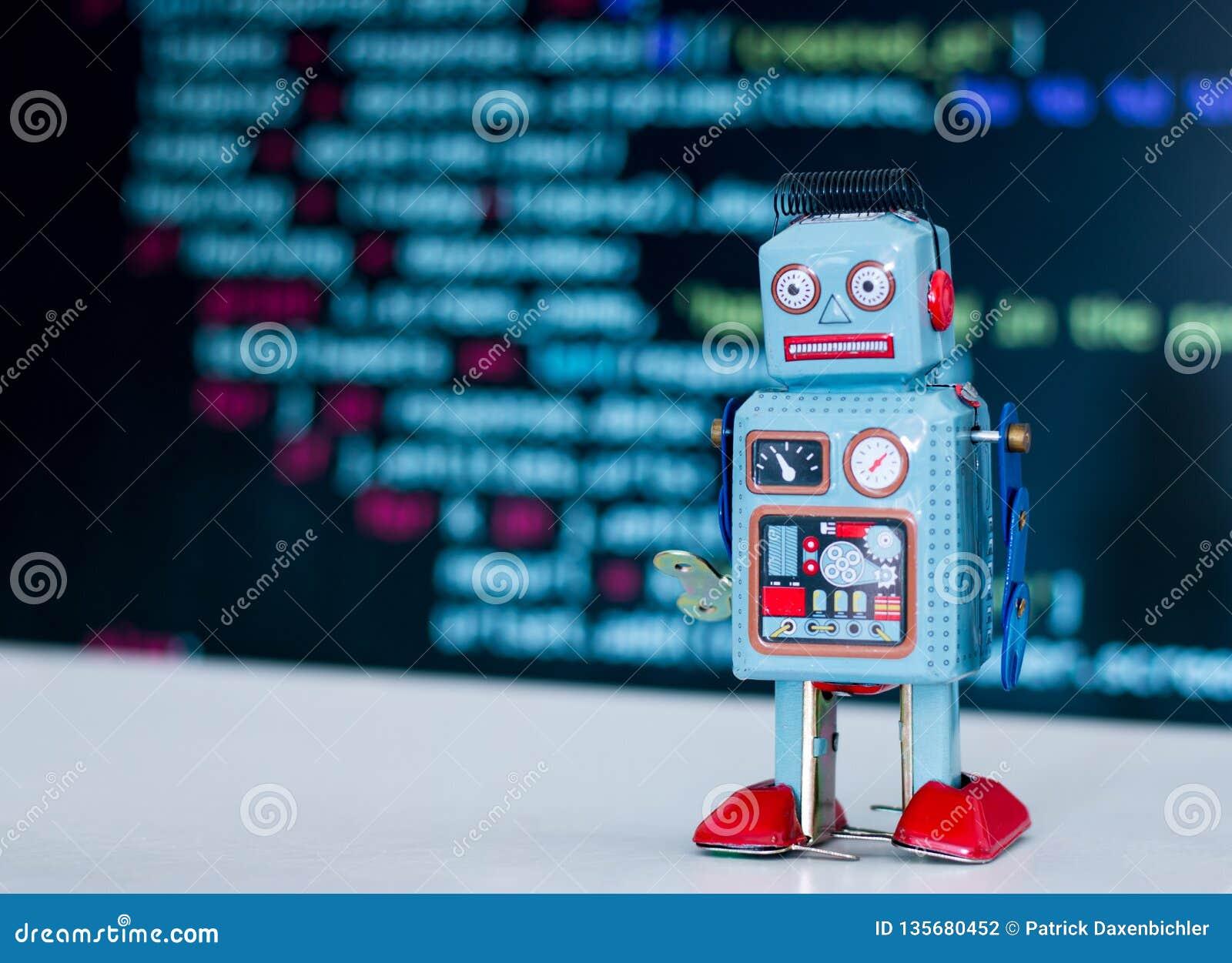 Symbol For A Chatbot Or Social Bot And Algorithms, Program