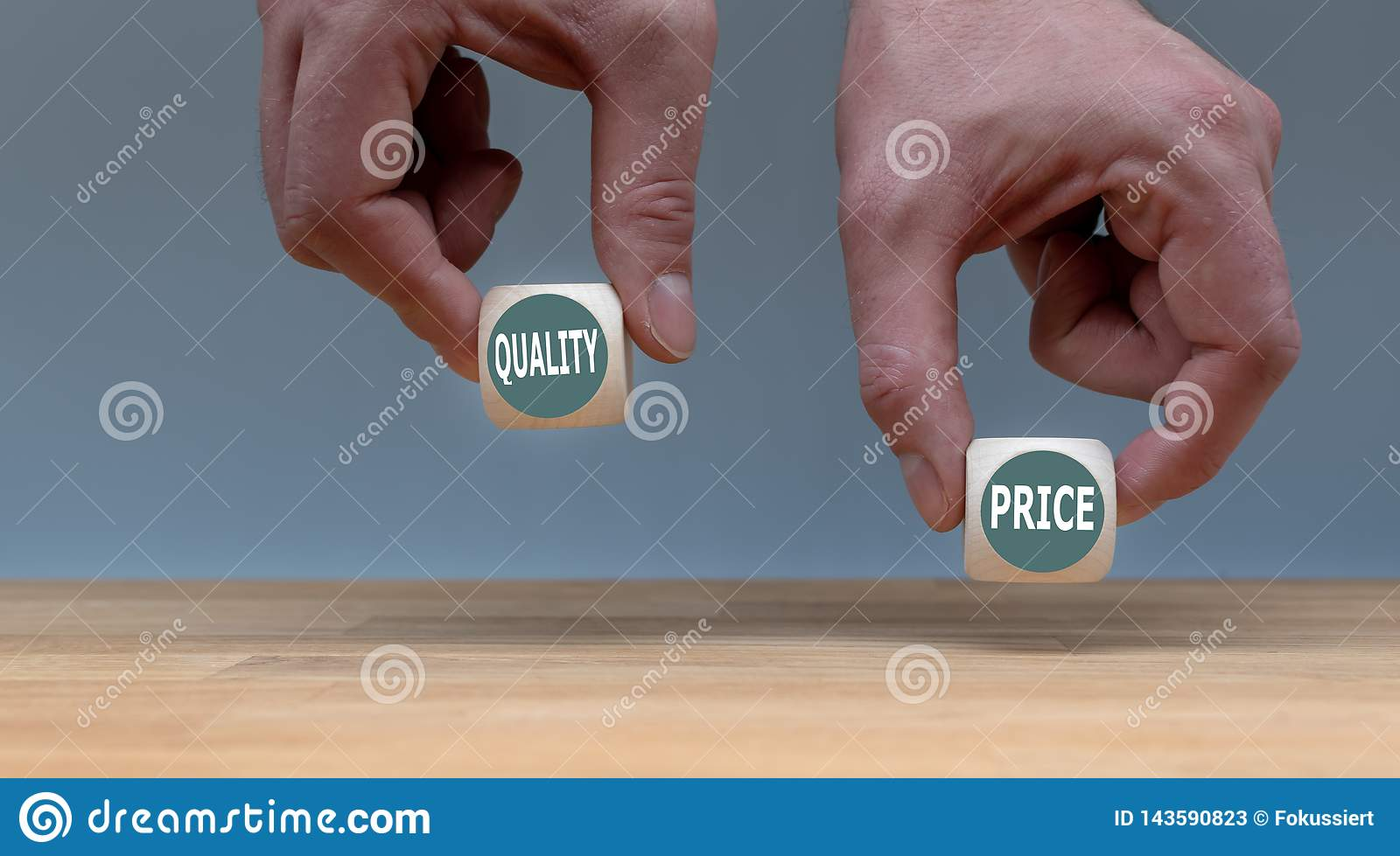 Symbol for choosing quality instead of a cheap price.