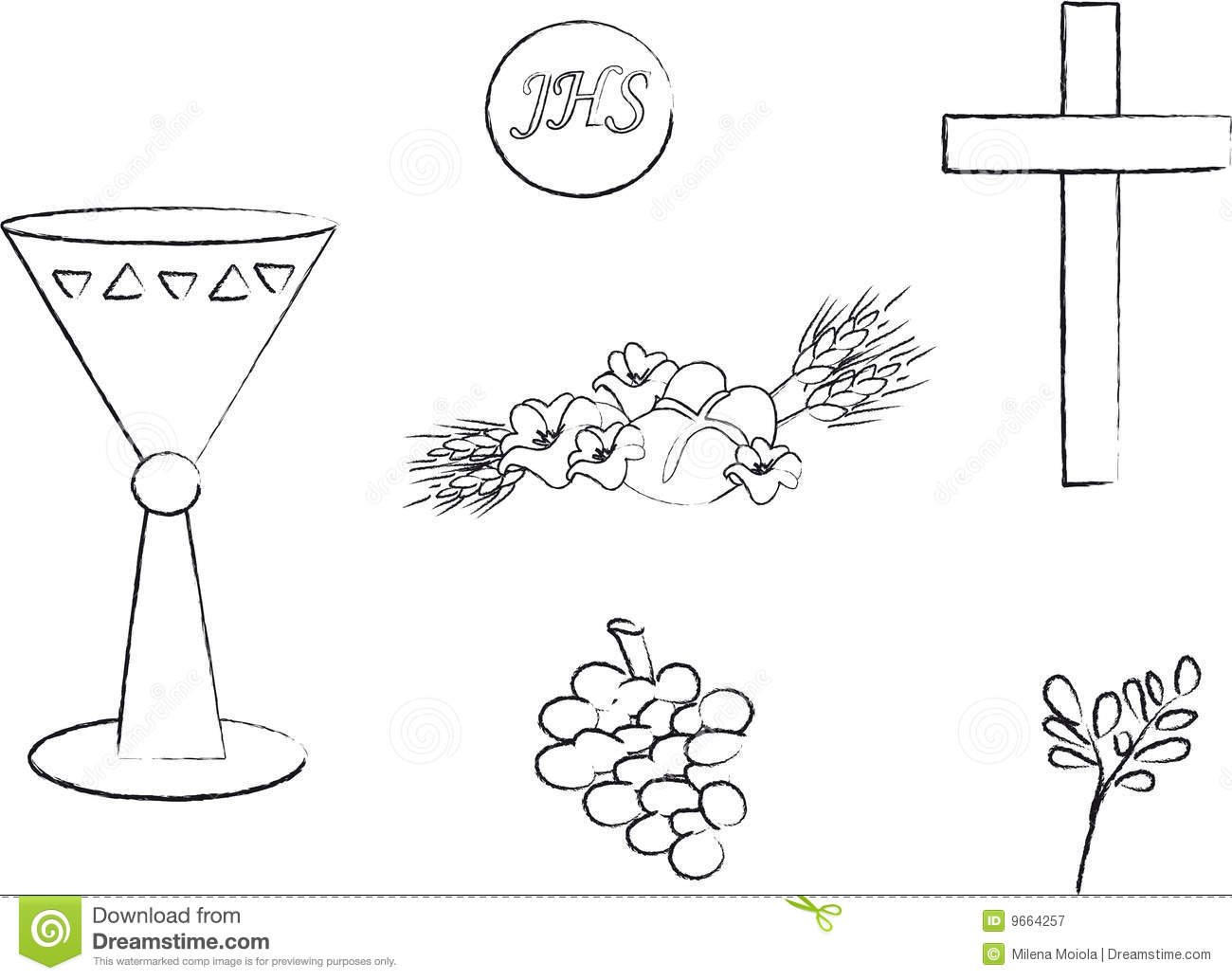 Sacraments stock illustrations 203 sacraments stock symbol for christianity an illustration featuring a black and white outline of symbols christianity royalty biocorpaavc