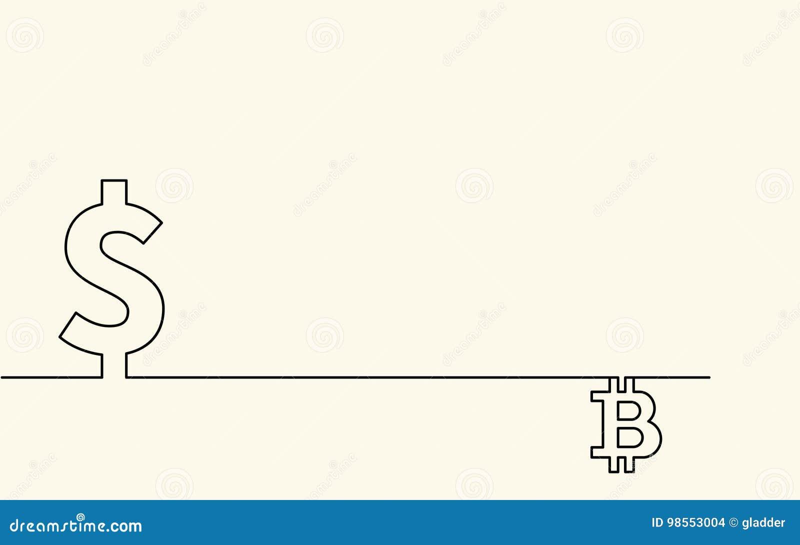 Symbol of currency dollar and symbol of digital crypto currency symbol of currency dollar and symbol of digital crypto currency bitcoin and currency symbol dollar in creative conceptual b buycottarizona