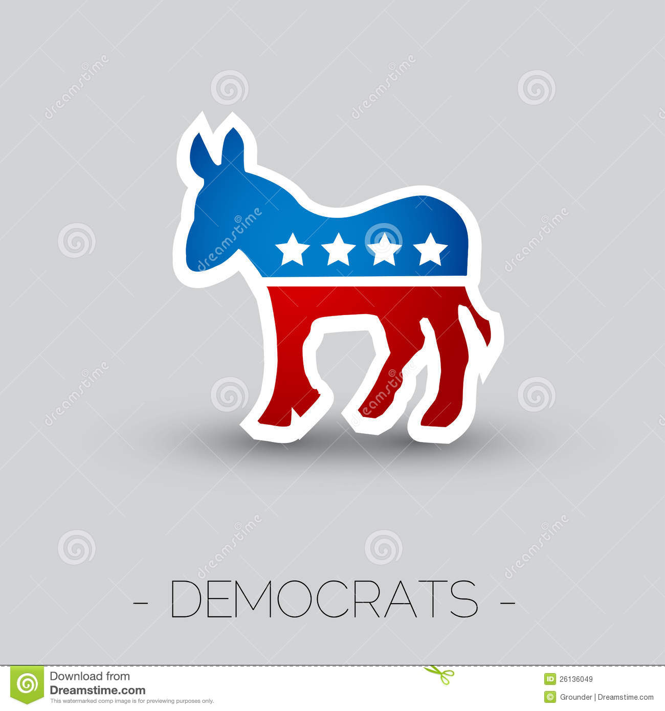 The symbol of the democratic party of the usa editorial stock the symbol of the democratic party of the usa buycottarizona