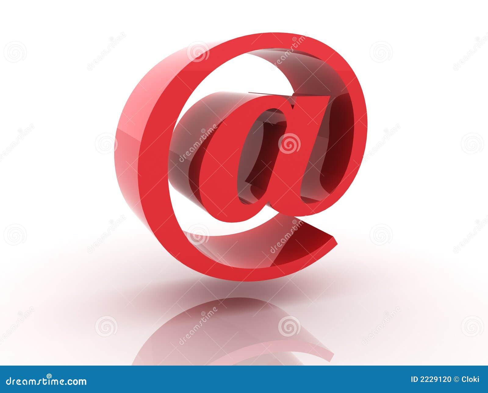 Symbol der eMail 3d
