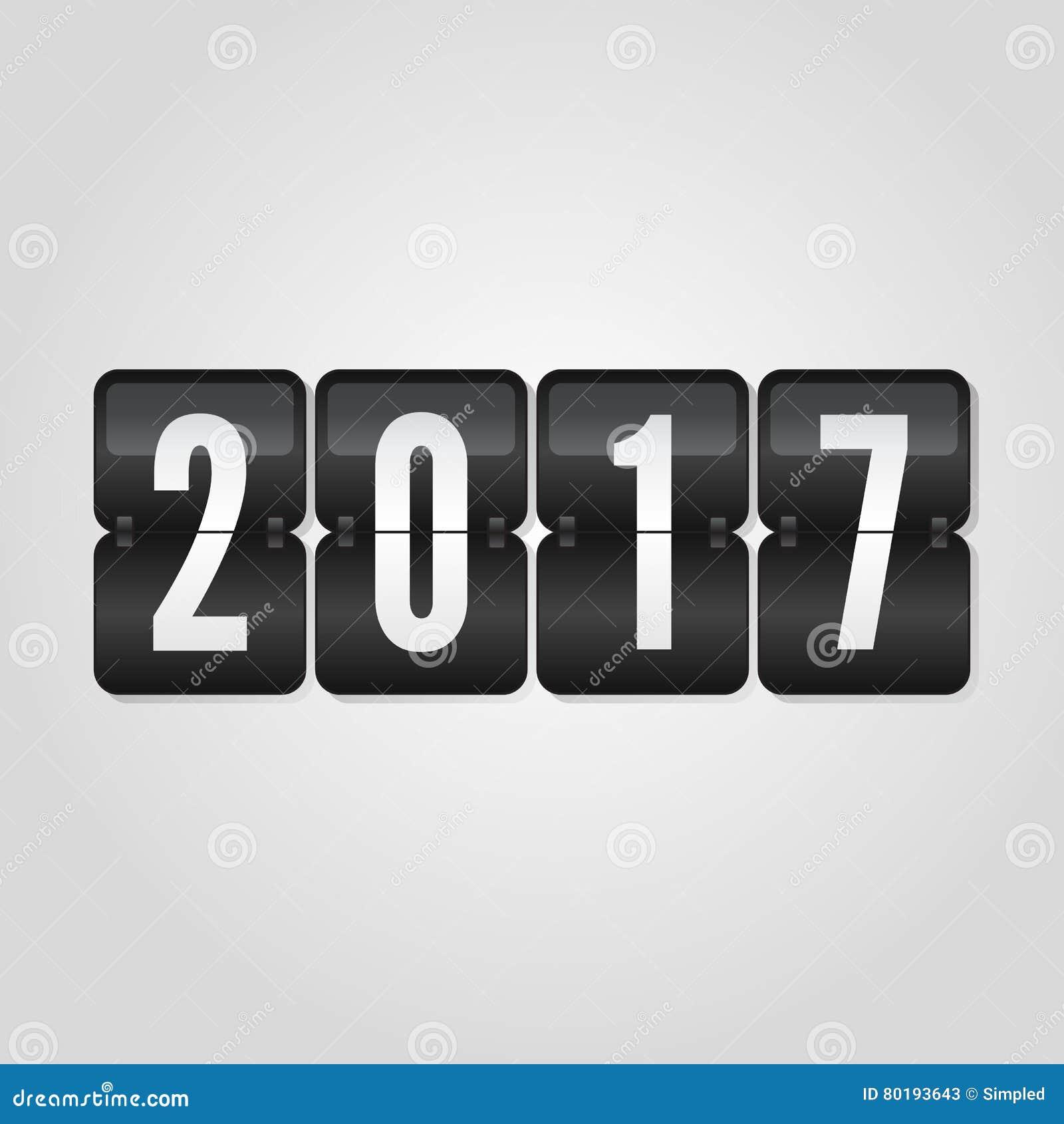 Symbol 2017 Des Guten Rutsch Ins Neue Jahr-Glückwunsch-leichten ...