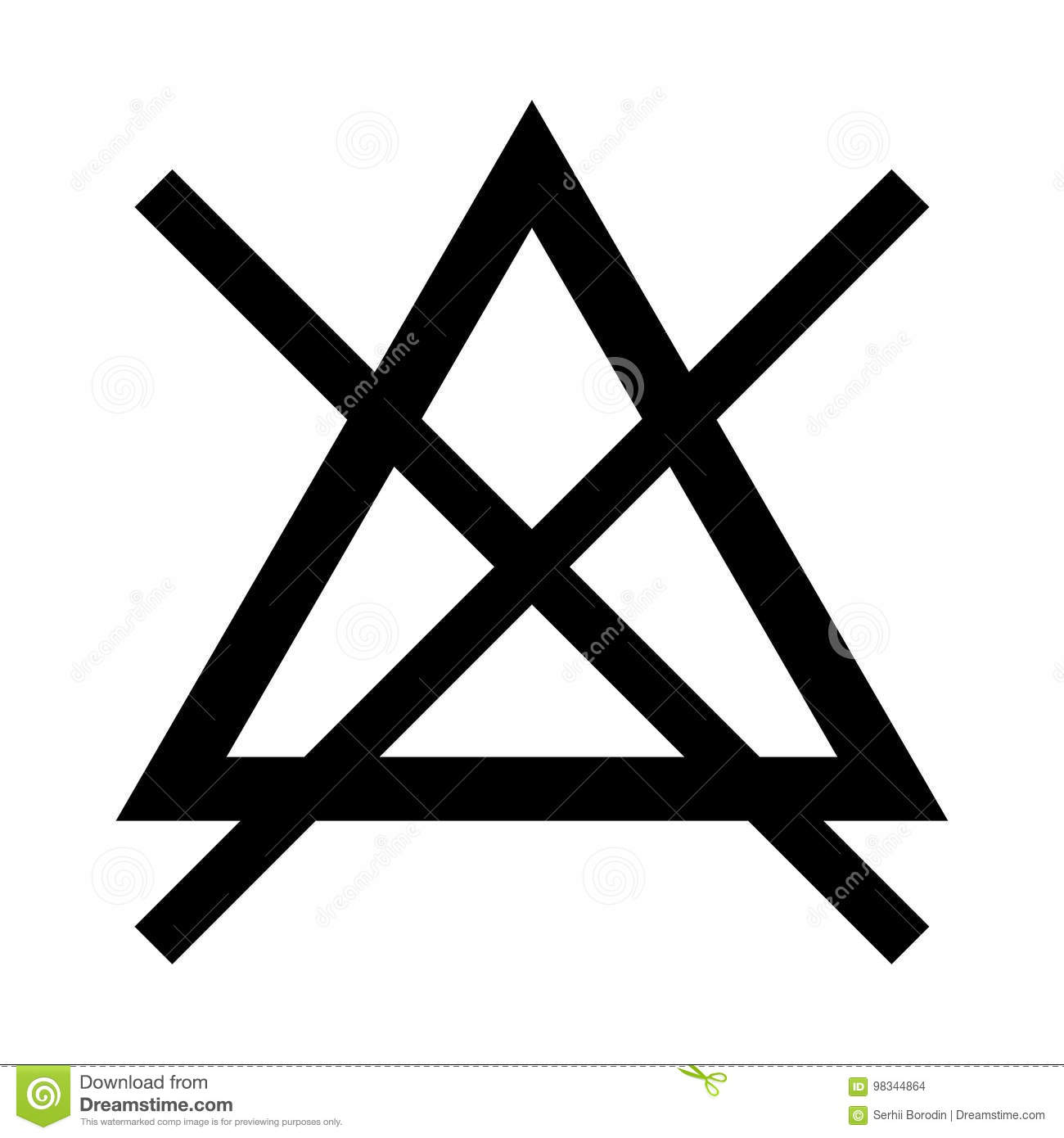 Symbol do not bleach black color icon stock vector symbol do not bleach black color icon biocorpaavc Choice Image