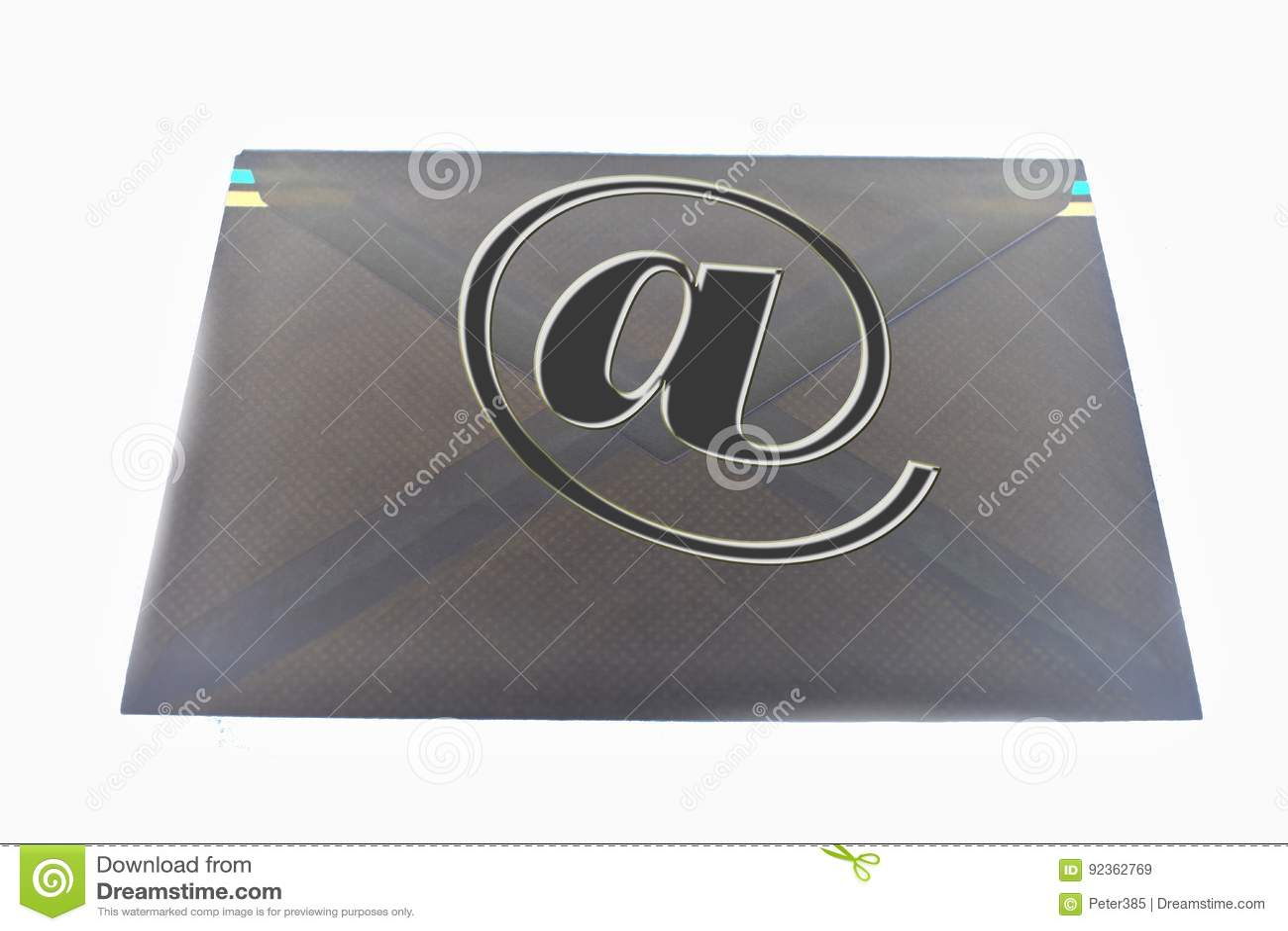 Download Symbol e-mail stock illustration. Illustration of internet - 92362769