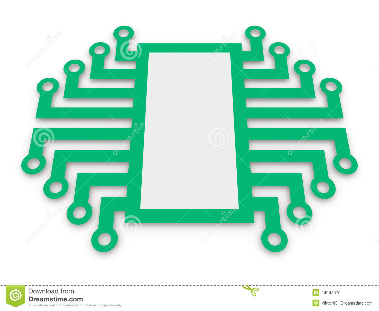 Symbol Of Electronic Microchip Stock Photo - Image: 24043970