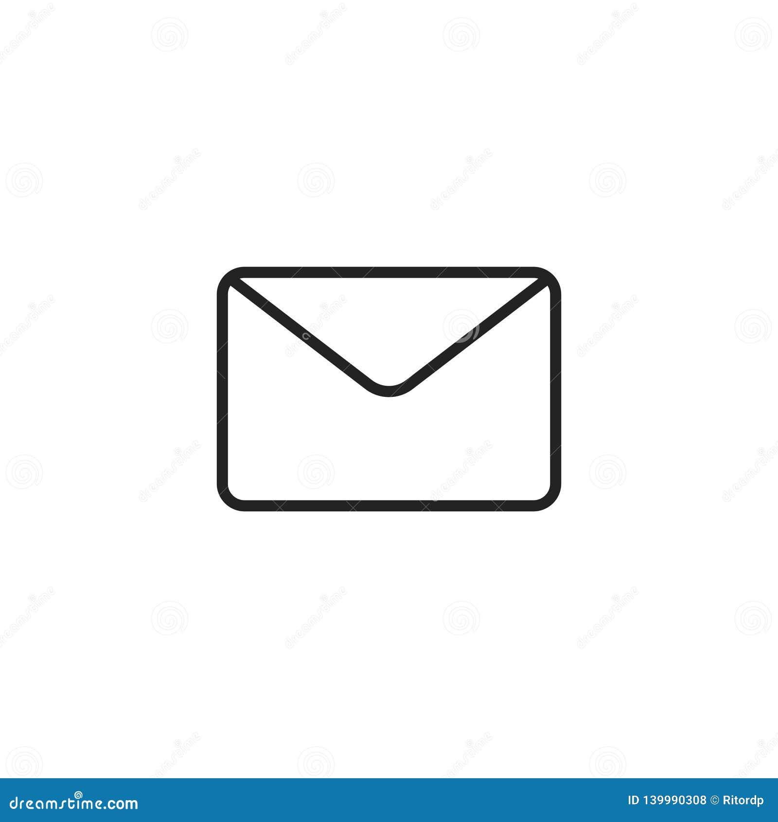 Symbol, symbol eller logo för kuvertöversiktsvektor