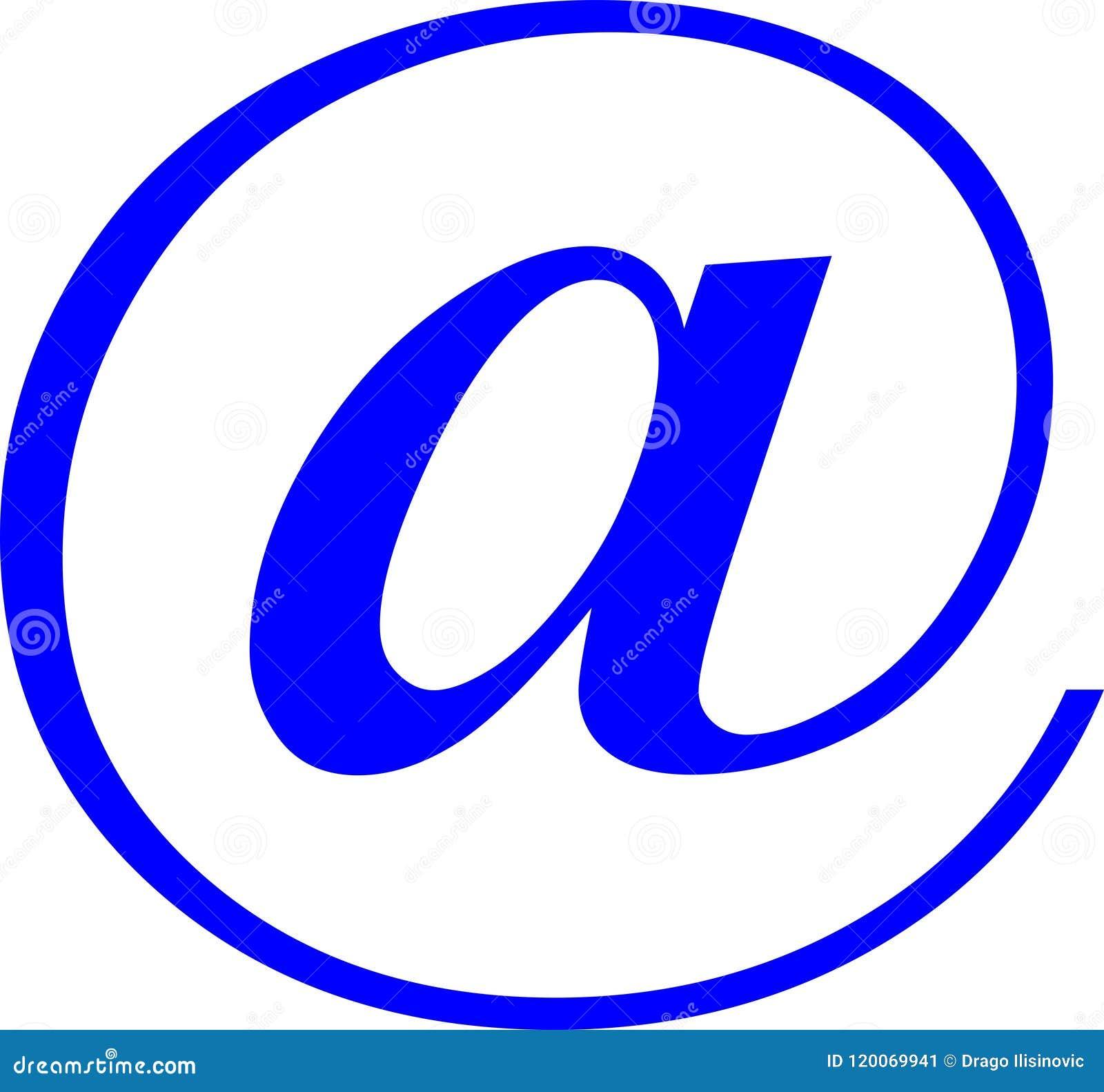 Symbol Email On White Background Stock Illustration Illustration