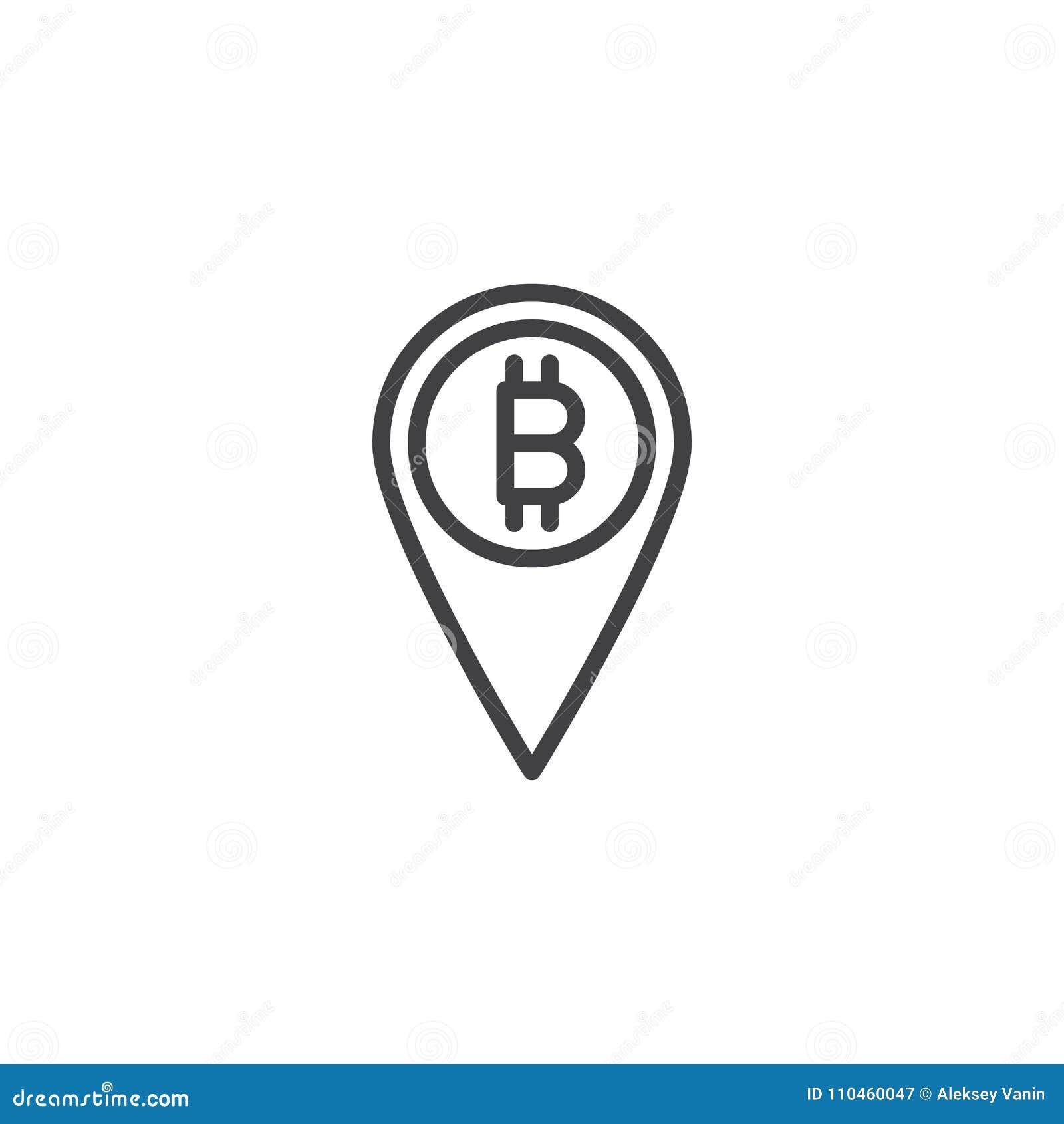 Symbol för översikt för Bitcoin översiktsstift