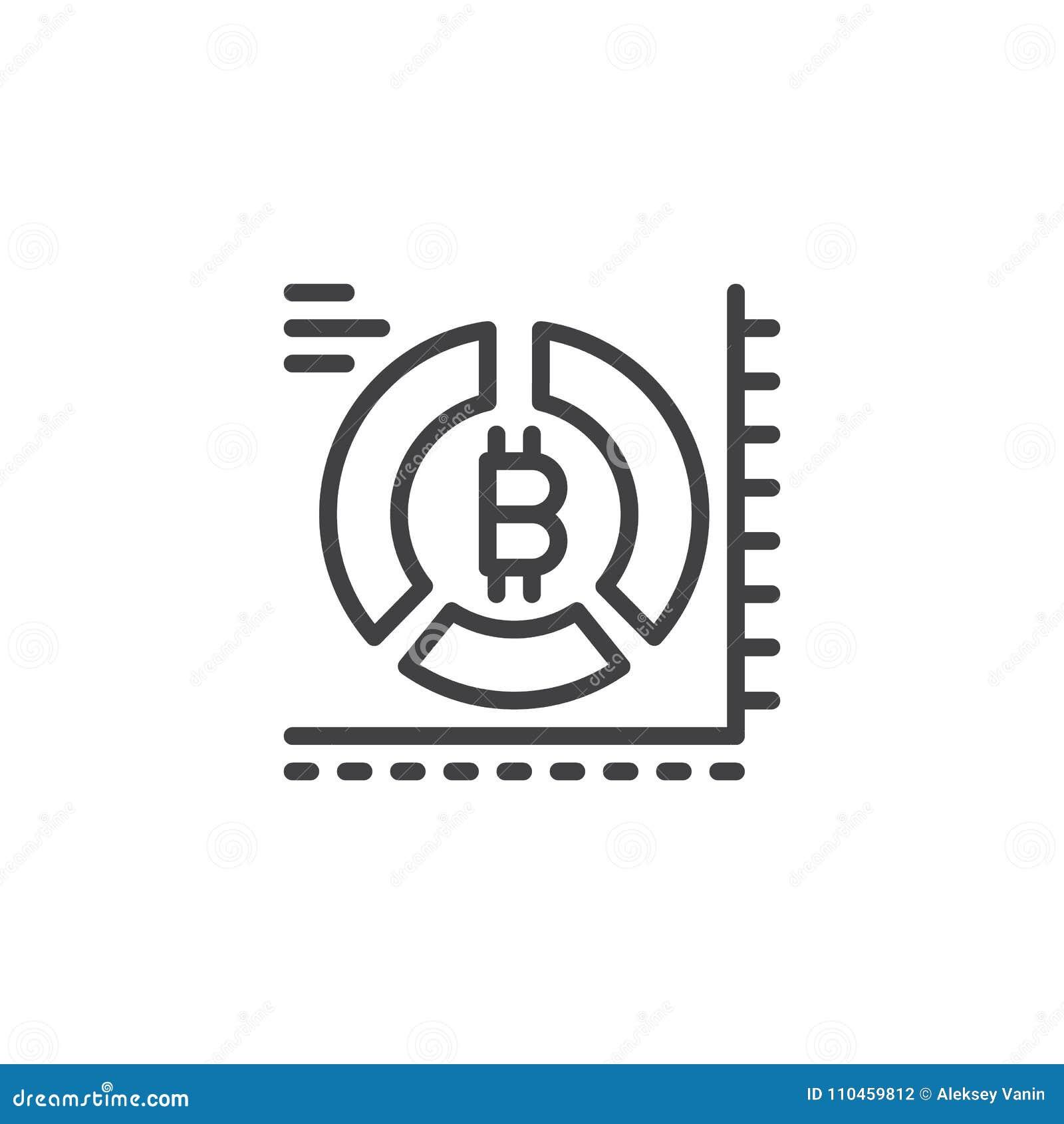 Symbol för översikt för Bitcoin pajdiagram