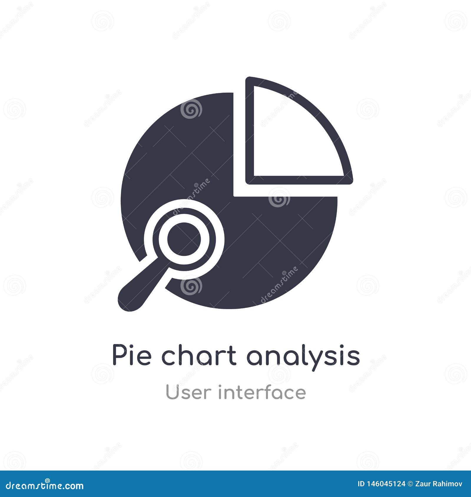 Symbol för översikt för manöverenhet för analys för pajdiagram isolerad linje vektorillustration fr?n anv?ndargr?nssnittsamling r