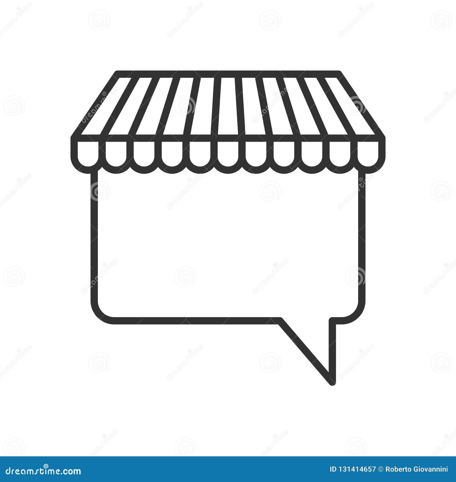 Symbol för översikt för markisanförandebubbla plan