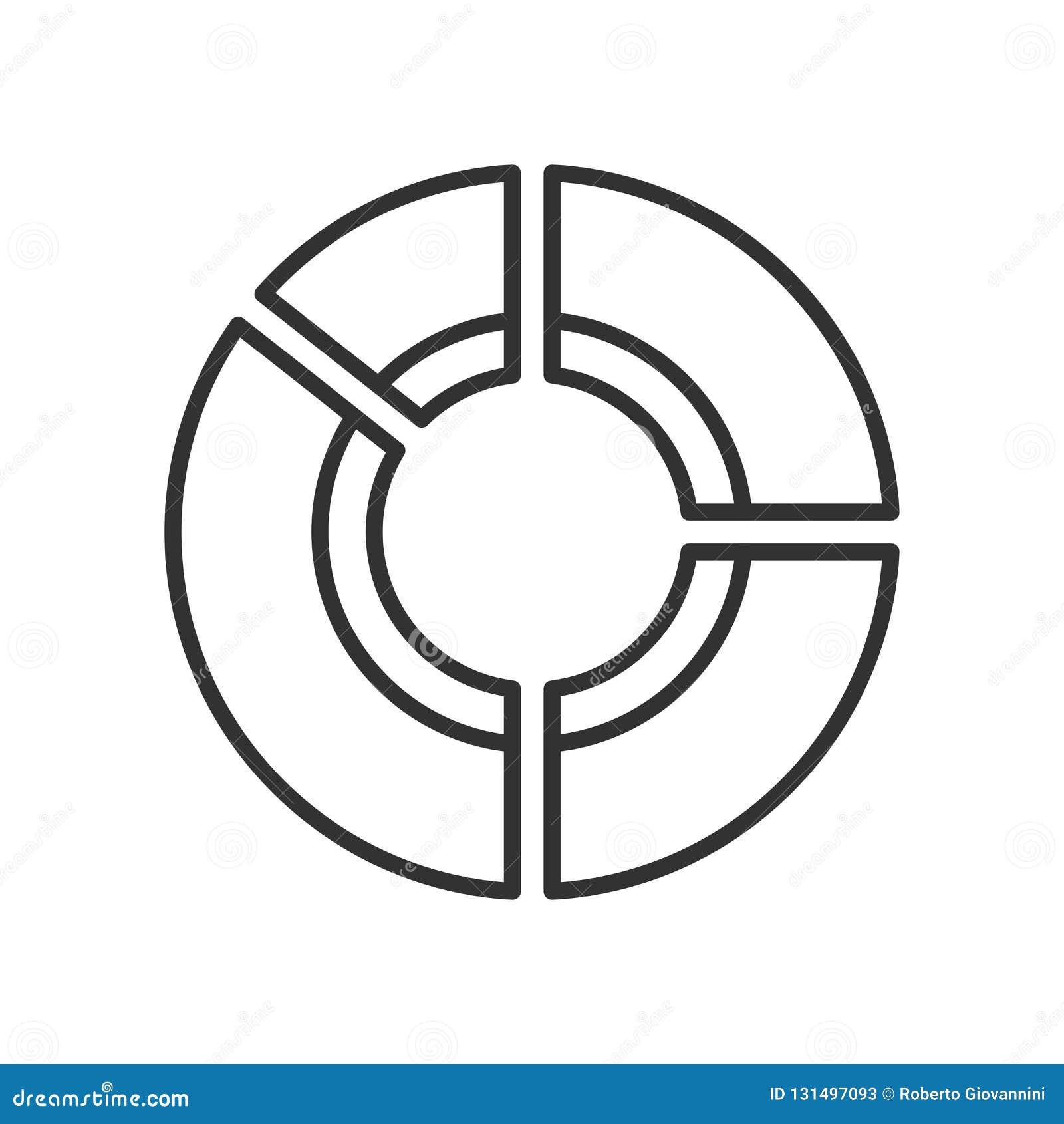 Symbol för översikt för statistikanalysdiagram plan