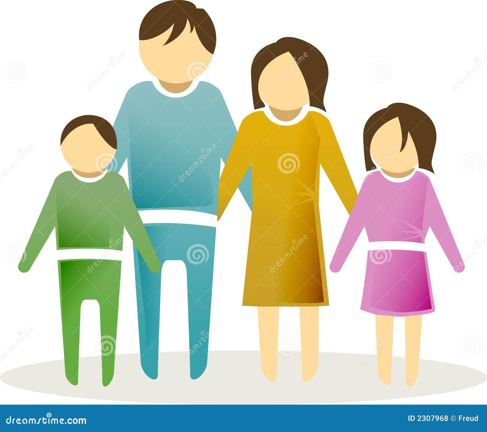 Symbol för 2 familj