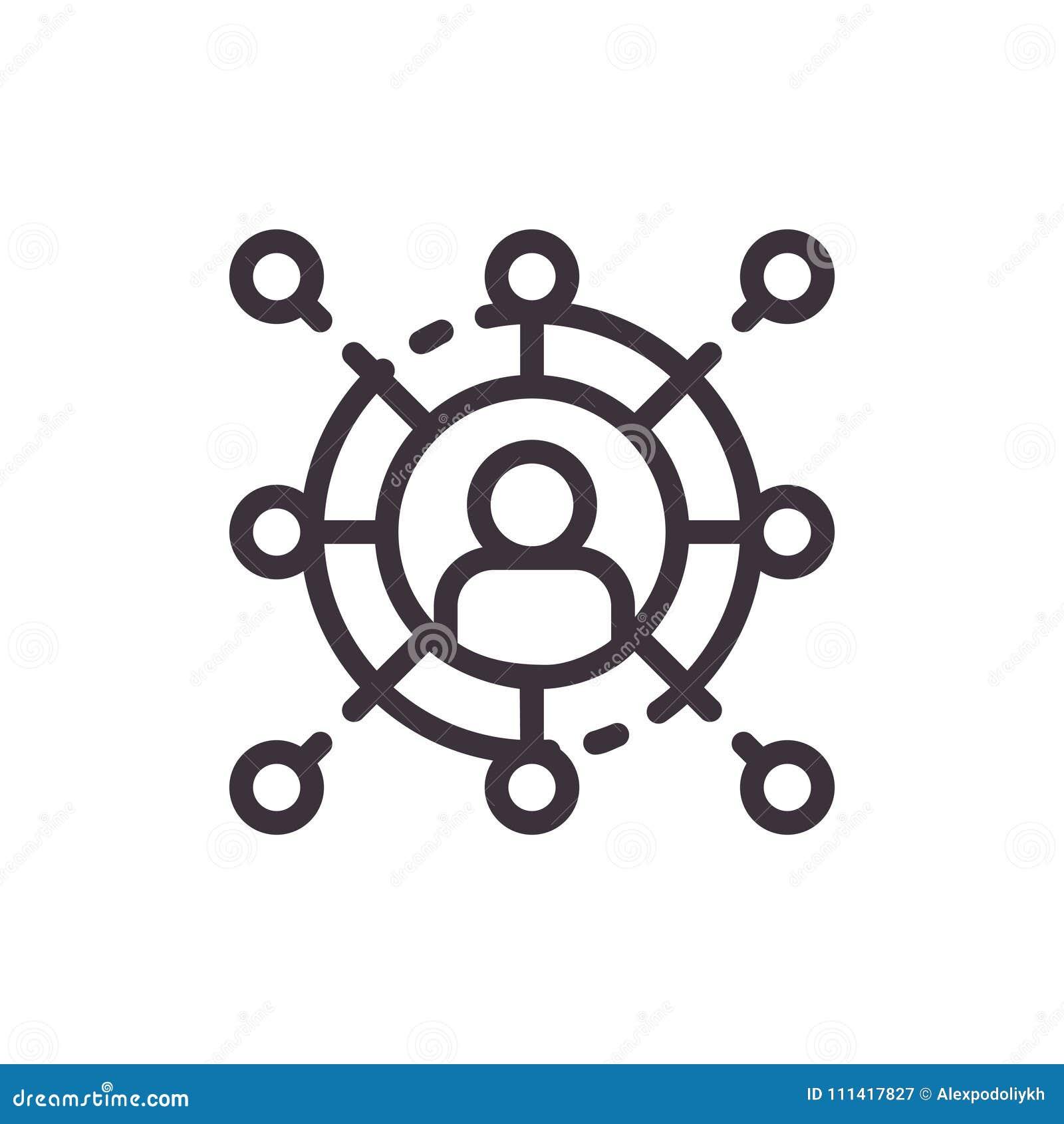 Symbol för affärskommunikation och nätverkande