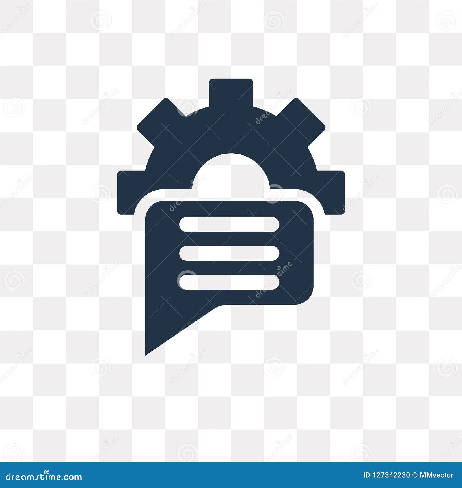 Symbol för anförandebubblavektor som isoleras på genomskinlig bakgrund, Sp