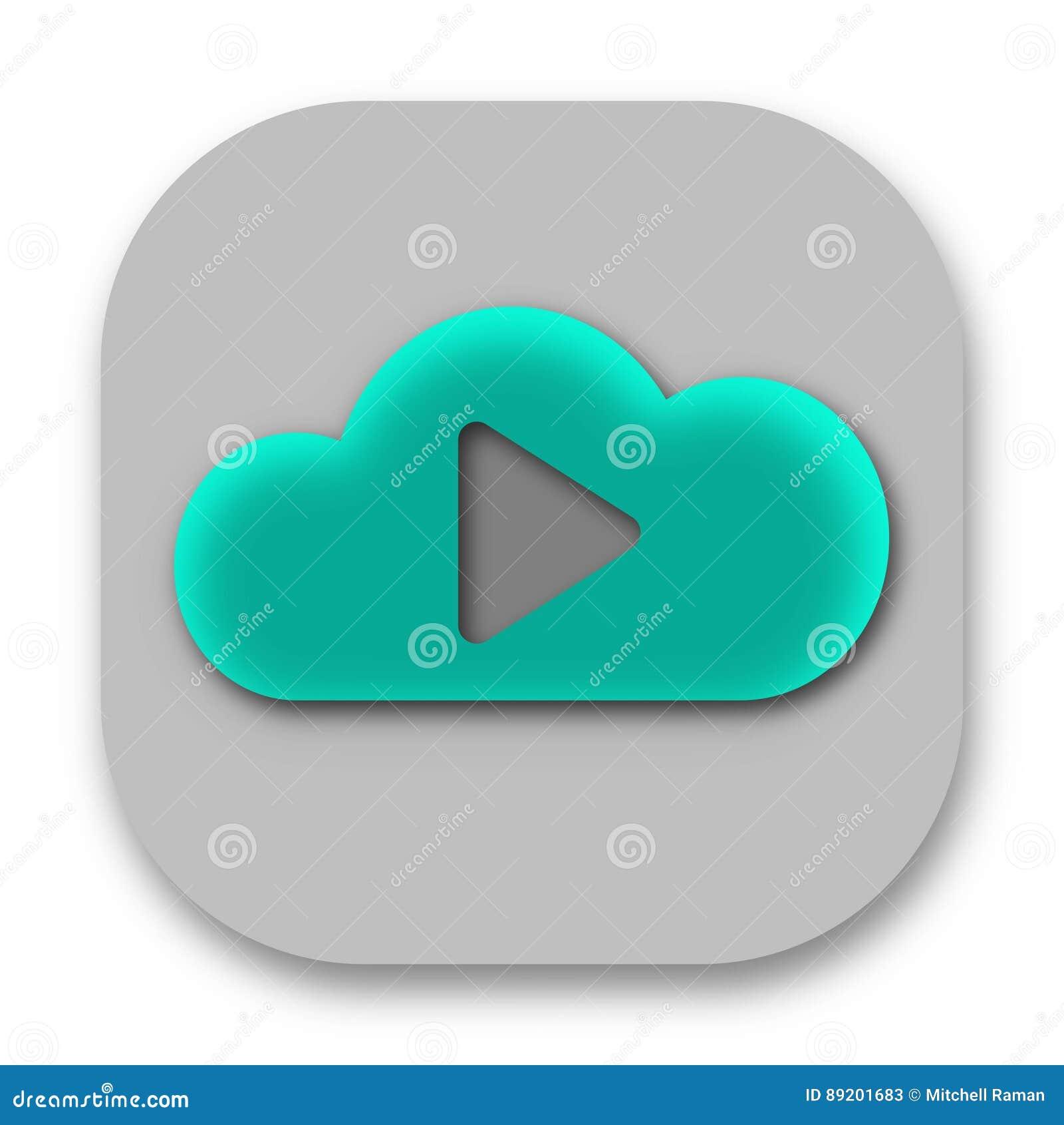 Symbol för App för moln för lekknappmusik