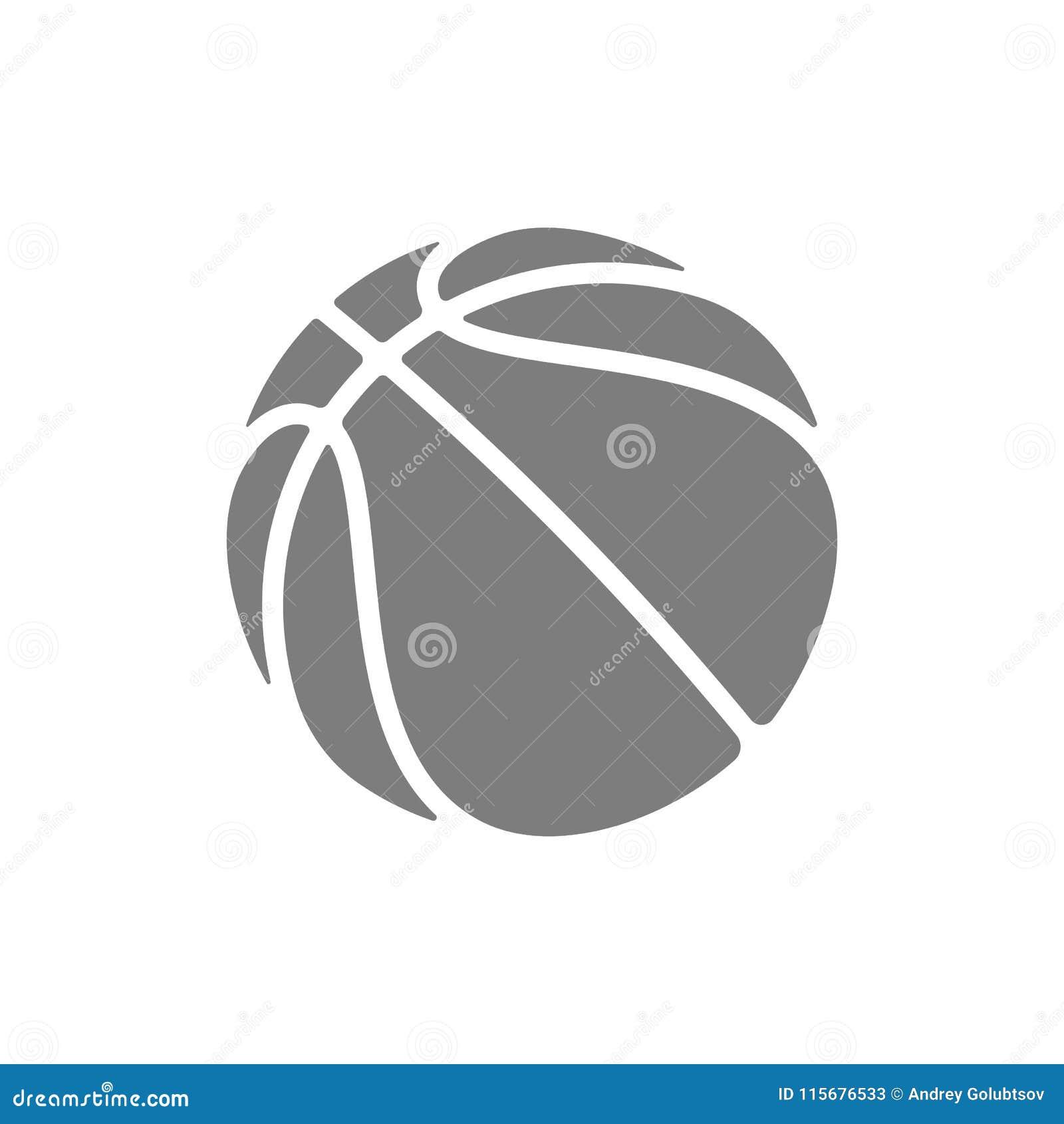 Symbol för basketlogovektor för liga för lag för för för streetballmästerskapturnering, skola eller högskola Plan korgboll för ve