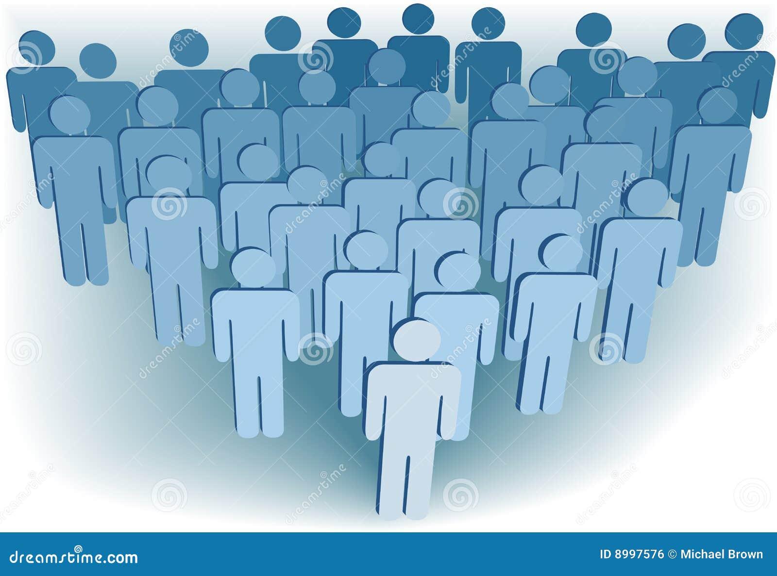 Symbol för befolkning för folk för grupp för företag 3d