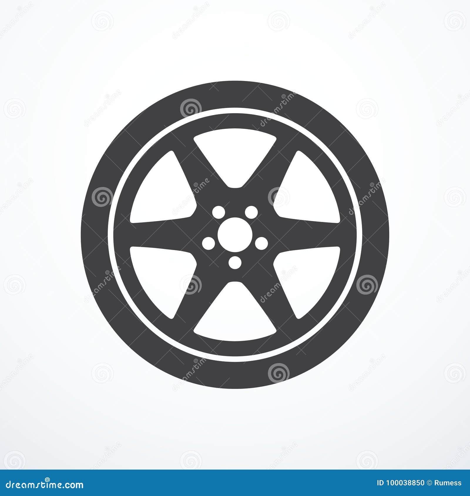 Symbol för bilhjul