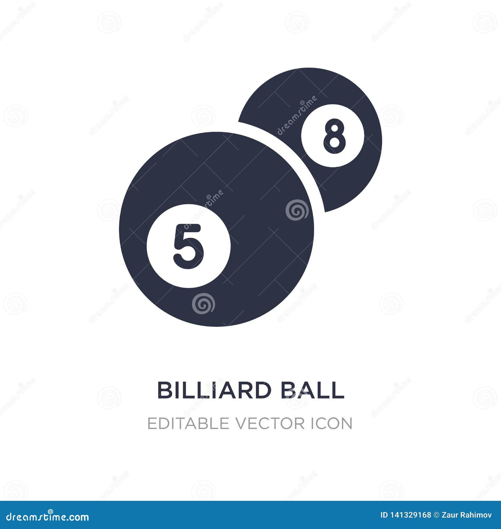 Symbol för billiardboll på vit bakgrund Enkel beståndsdelillustration från att spela begrepp