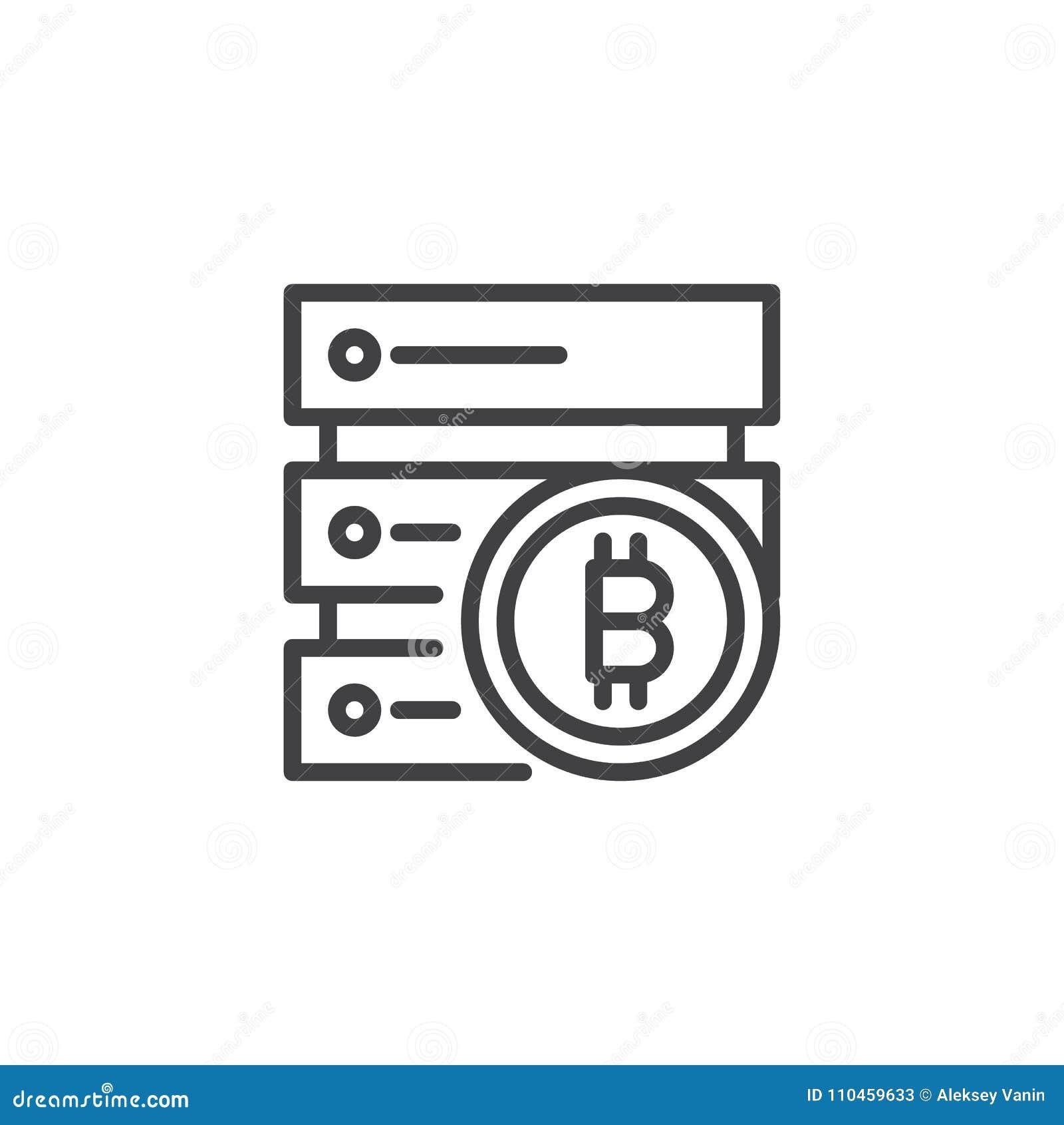 Symbol för Bitcoin datacenteröversikt