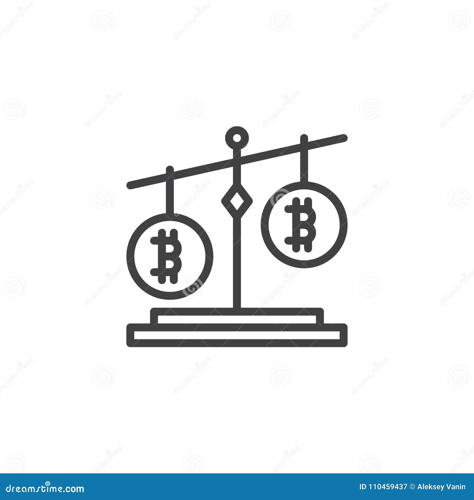 Symbol för Bitcoin jämviktsöversikt