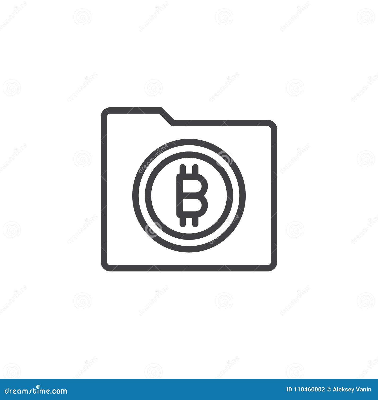 Symbol för Bitcoin mappöversikt