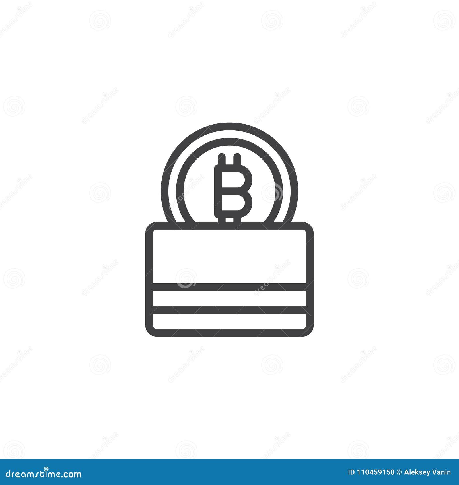 Symbol för Bitcoin plånboköversikt