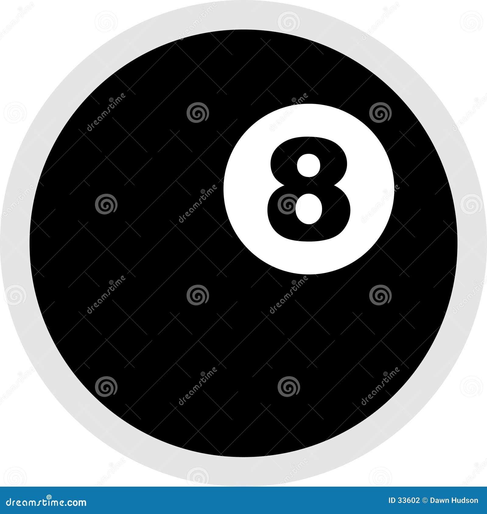 Symbol för boll åtta
