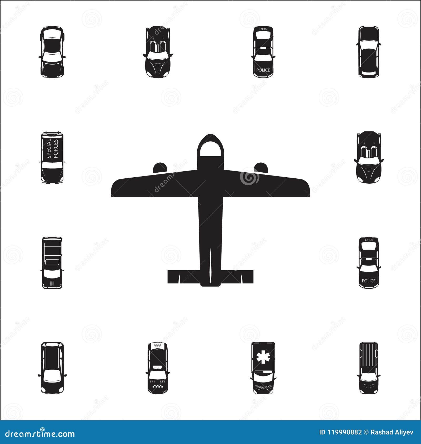 Symbol för borgerligt flygplan Detaljerad uppsättning av transportsikten från ovannämnda symboler Högvärdigt kvalitets- tecken fö
