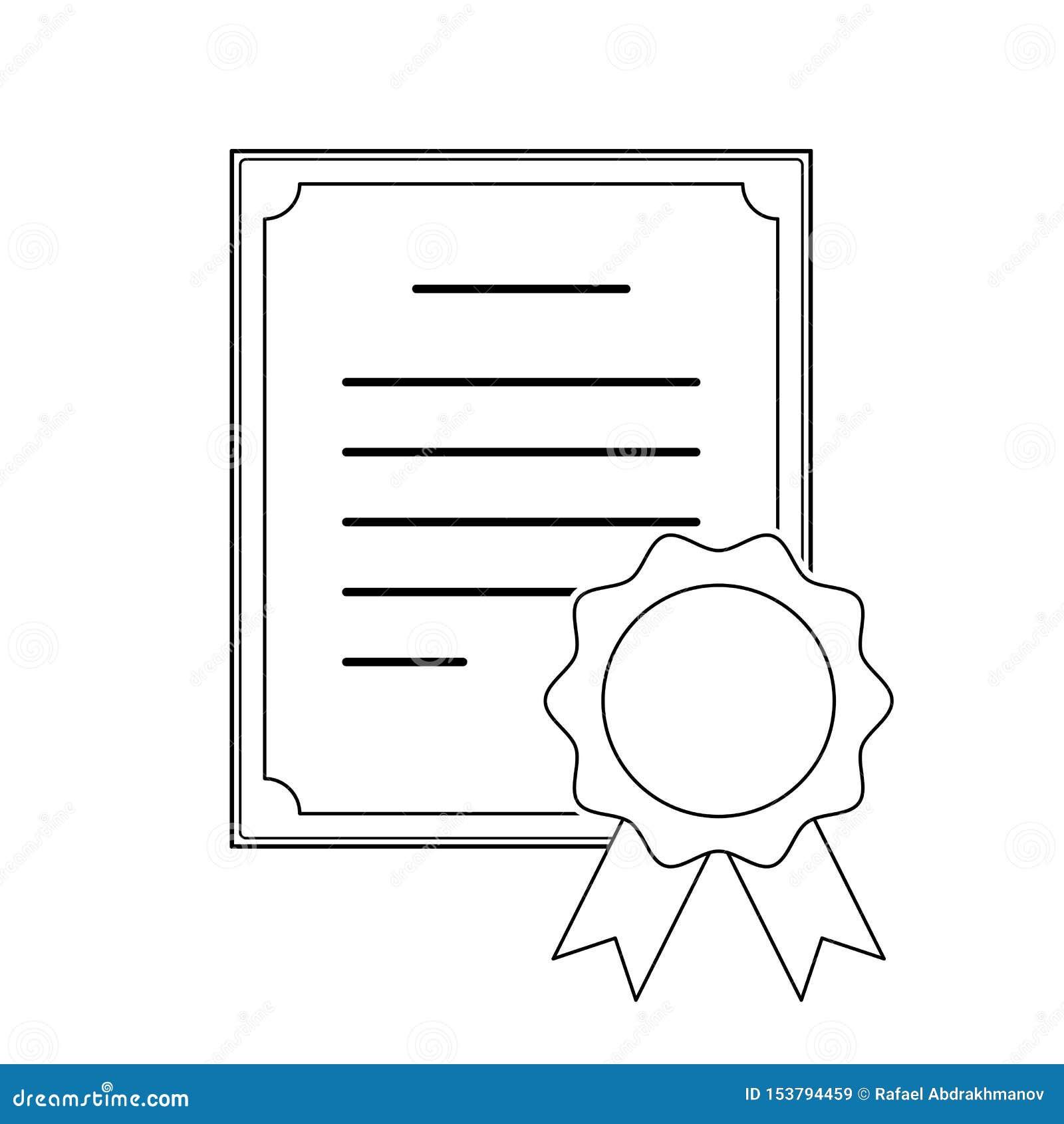 Symbol för cerificate för modern tunn slaglängdöversikt yrkesmässig med medaljen Tecken för illustration för vektoreps 10 Plant p