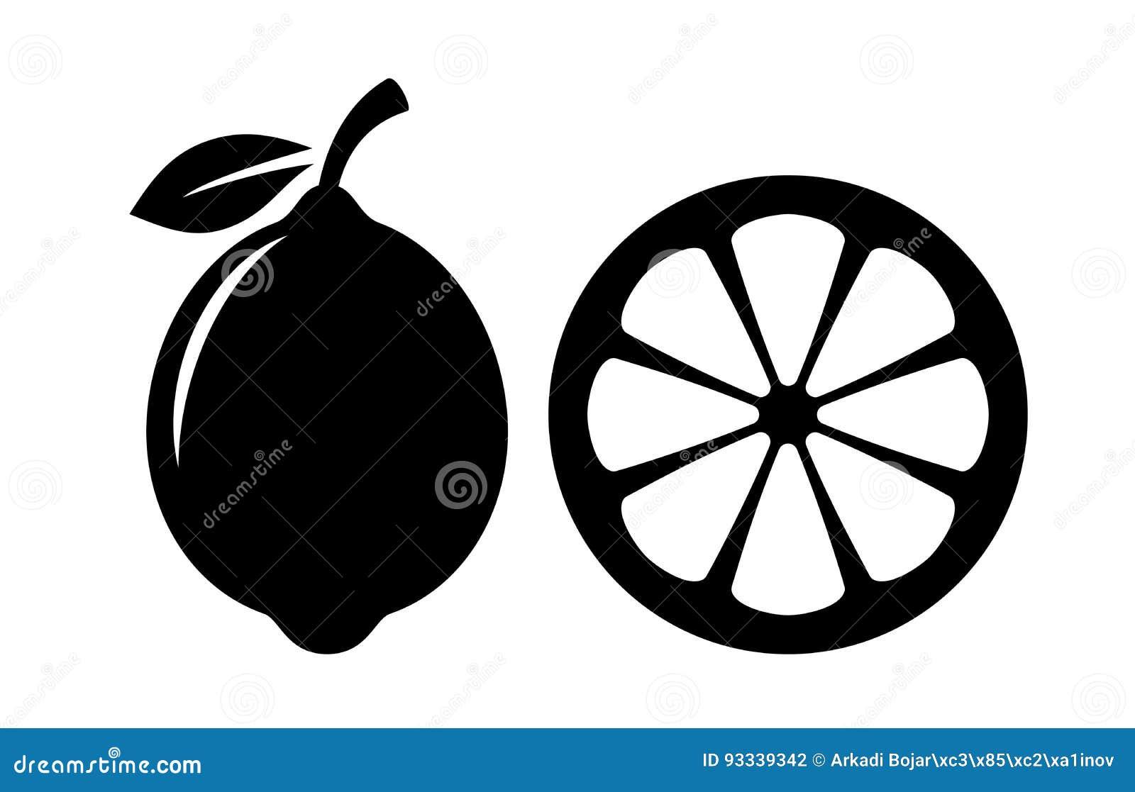 Symbol för citronskivavektor