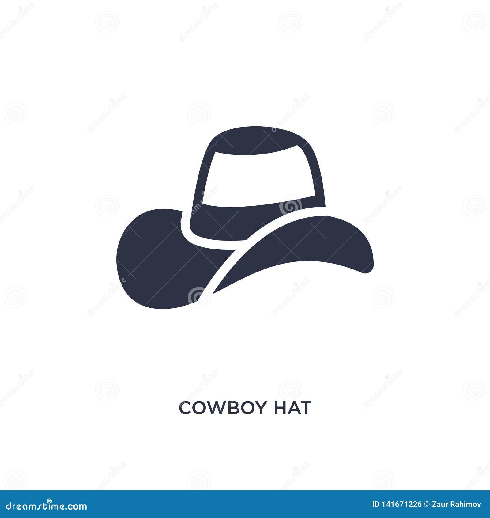 Symbol för cowboyhatt på vit bakgrund Enkel beståndsdelillustration från löst västra begrepp