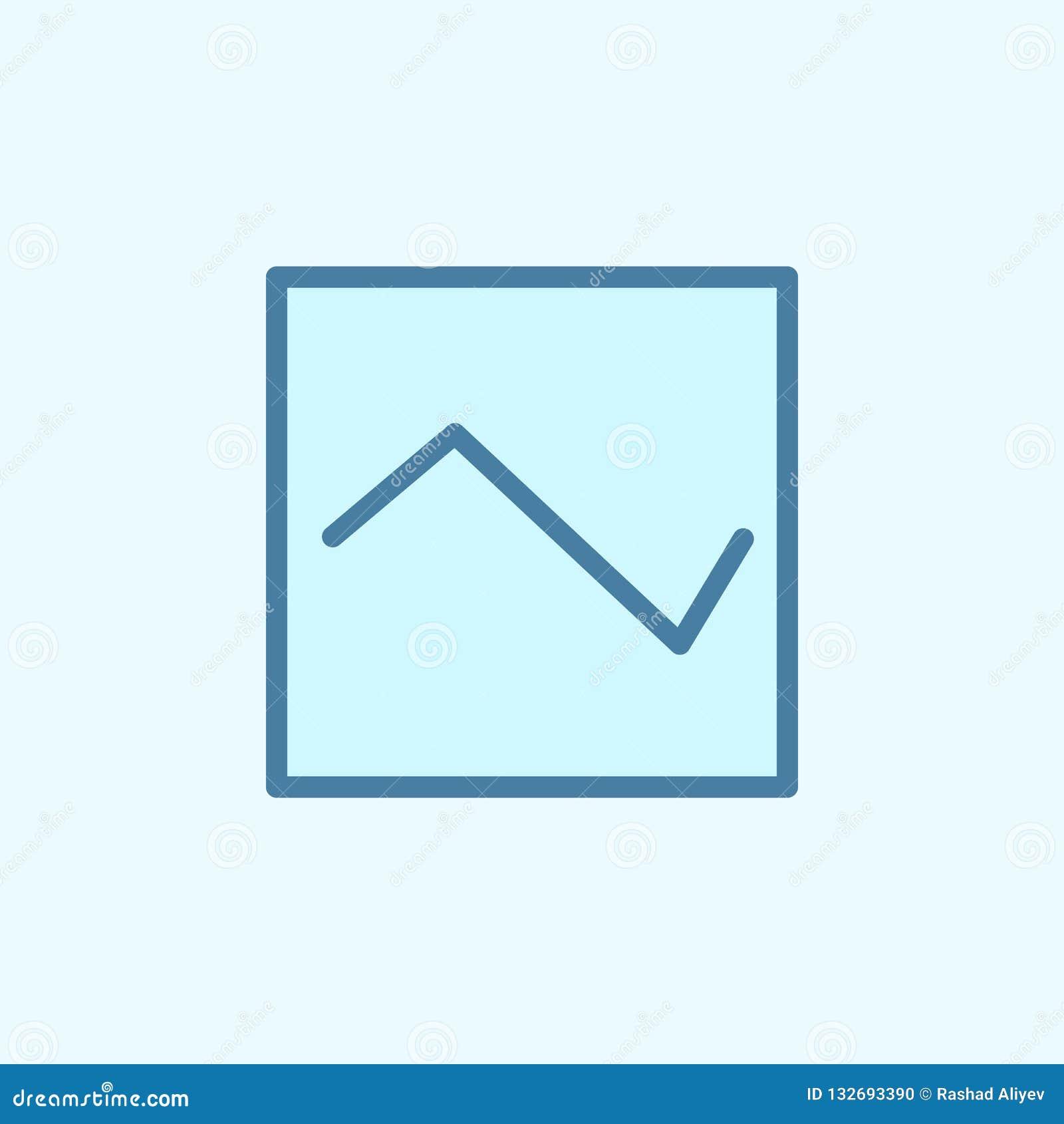 Symbol för diagramfältöversikt Beståndsdel av den enkla symbolen för 2 färg Tunn linje symbol för websitedesignen och utveckling,