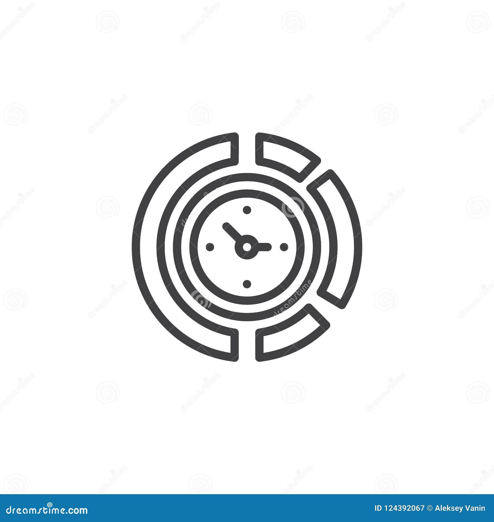 Symbol för diagramklockaöversikt
