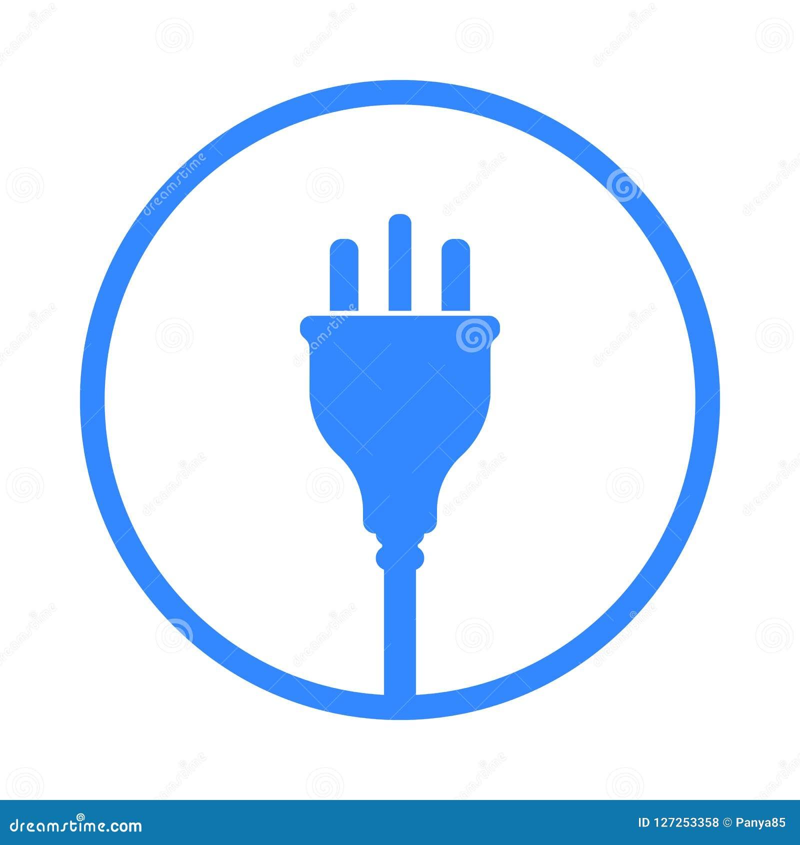 Symbol för elektrisk propp för UK, symbol Förenade kungariket Storbritannien normal