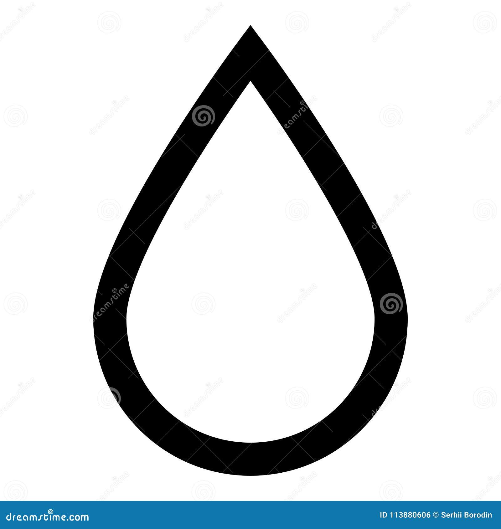 Symbol för färg för droppsymbolssvart