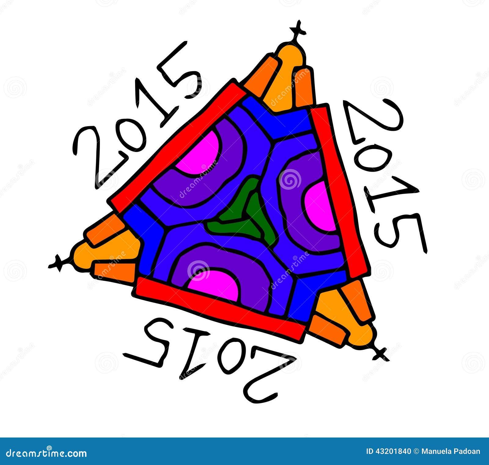 Download Symbol För 2015 Festligheter På Vit Bakgrund Vektor Illustrationer - Illustration av modernt, garnering: 43201840