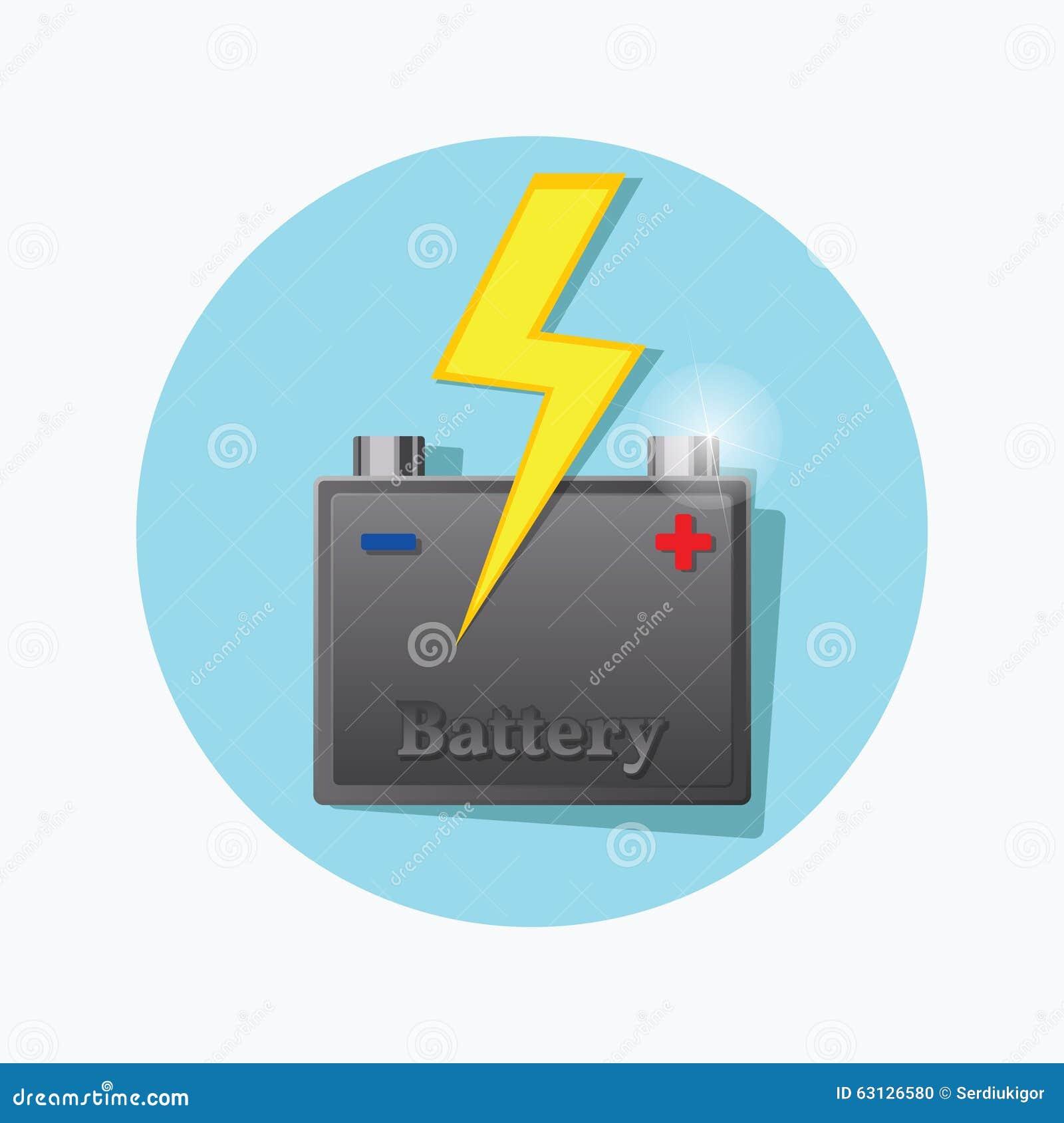 Symbol för fett för lagringsbatteri vektor